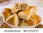 brazilian snack. chicken esfiha ... | Shutterstock . vector #387251917