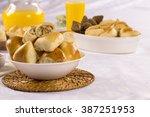 brazilian snack. chicken esfiha ... | Shutterstock . vector #387251953