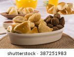 mixed brazilian snack.  | Shutterstock . vector #387251983