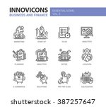 set of modern vector office... | Shutterstock .eps vector #387257647