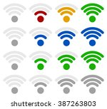 signal strength indicator... | Shutterstock . vector #387263803