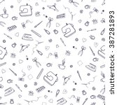 vector seamless pattern with...   Shutterstock .eps vector #387281893