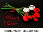 easter eggs in the form of... | Shutterstock . vector #387306583