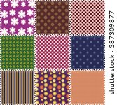 patchwork background with... | Shutterstock . vector #387309877