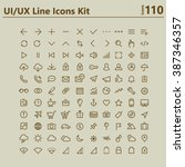ui and ux big bold line icons... | Shutterstock .eps vector #387346357