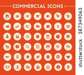 big commercial icon set | Shutterstock .eps vector #387349063