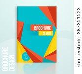 vector brochure design template ...   Shutterstock .eps vector #387351523