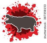 hippopotamus silhouette ...   Shutterstock .eps vector #387358153