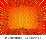 abstract orange zoom background | Shutterstock .eps vector #387364417