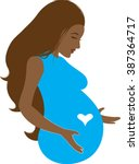 Pregnant Woman   Clip Art  ...