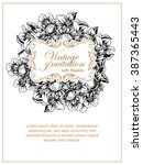 vintage delicate invitation...   Shutterstock .eps vector #387365443