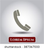 old phone icon vector... | Shutterstock .eps vector #387367033