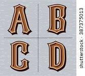 alphabet western letters... | Shutterstock .eps vector #387375013