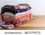 winter fashion clothing with... | Shutterstock . vector #387379273