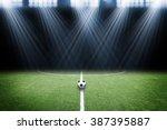soccer field with spotlight | Shutterstock . vector #387395887