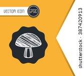 vegetarian food design  | Shutterstock .eps vector #387420913