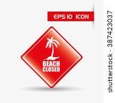 beach concept design  | Shutterstock .eps vector #387423037