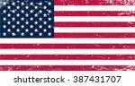 grunge usa flag.american flag... | Shutterstock .eps vector #387431707