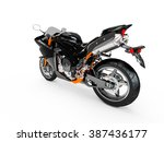 black motorcycle isolated on a... | Shutterstock . vector #387436177