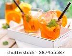 refreshing lemonade with...   Shutterstock . vector #387455587