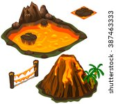 The Eruption Of A Volcano On A...