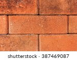 Close Up Of Old Red Brick Wall...