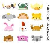 Funny Cartoon Animals Hat Set ...
