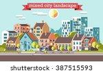 city skyline 3d style... | Shutterstock .eps vector #387515593