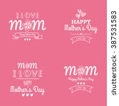 happy mother day   Shutterstock .eps vector #387531583