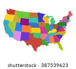 map of usa | Shutterstock .eps vector #387539623
