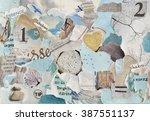 serene zen creative atmosphere... | Shutterstock . vector #387551137