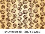 walnut seamless texture | Shutterstock .eps vector #387561283