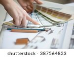creative people workplace.... | Shutterstock . vector #387564823