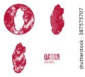 qatar grunge retro maps   asia  ... | Shutterstock .eps vector #387575707
