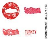turkey grunge retro maps   asia ... | Shutterstock .eps vector #387575743
