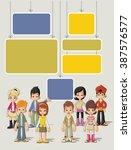 template for advertising... | Shutterstock .eps vector #387576577