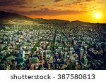 panoramic view of santiago de... | Shutterstock . vector #387580813