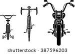 bike evolution front view | Shutterstock .eps vector #387596203