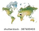 illustration of the world with... | Shutterstock . vector #387600403