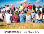 teenagers at summer music... | Shutterstock . vector #387622477