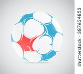 creative football illustration... | Shutterstock .eps vector #387624853