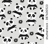 panda vector print | Shutterstock .eps vector #387630523