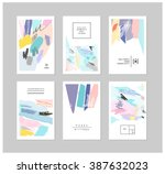 set of artistic creative... | Shutterstock .eps vector #387632023