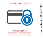 security credit card simple... | Shutterstock .eps vector #387637003