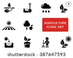 Set Of Black Agriculture Icons...