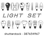 Vector Set Of Light Bulbs...