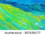 abstract oil paint texture on... | Shutterstock . vector #387658177