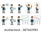 set of businessman characters... | Shutterstock .eps vector #387662983