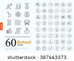 set of school icons for website ... | Shutterstock .eps vector #387663373