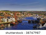 Aerial View Of Whitby Town And...